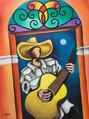 """CUBAN ART 18""""x24"""" ORIGINAL OIL PAINTING ON STRETCHED CANVAS READY TO HANG DECOR"""