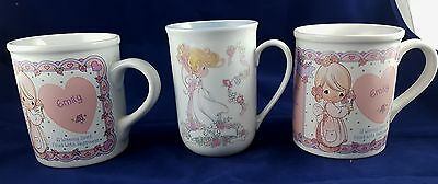 3 Precious Moments EMILY Coffee Cups A Winning Spirit Filled with Happiness