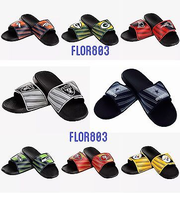 NFL Football Team Men's Legacy Shower Sport Slide Flip Flop Sandals