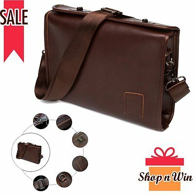 Laptop Fahion Men's Briefcases Crossbody Satchel Messenger Shoulder Bags Leather