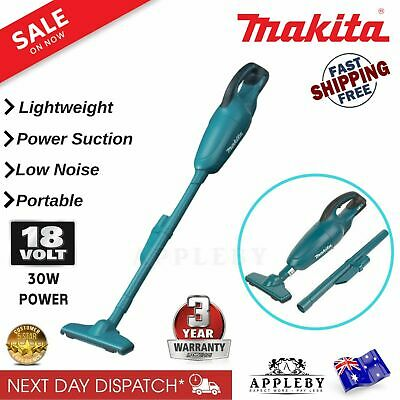New Makita DCL180Z 18V Cordless Mobile Vacuum Cleaner With Attachments Skin