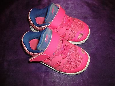 Nike Free  5.0  Pink Blue White  Infant    Girls   Sz. 7C