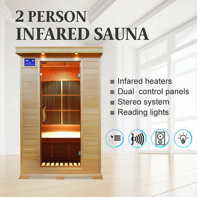 (NSW PICKUP) Sauna 2-Person Luxury Carbon Infrared Wooden Sauna Room
