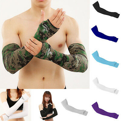 New UV Sun Protection Arm Cooling Sleeves Gloves Golf Bike Cycling Sport Cover