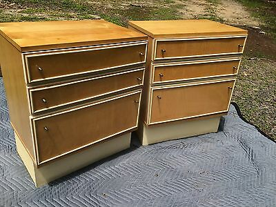 Pair Mid Century Modern Night Stands German 2 End Tables Boblingen Bonn Boppard