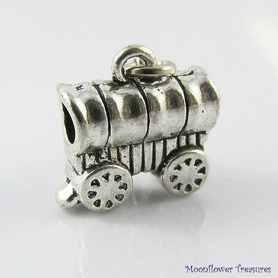 3D Old West Covered Wagon Charm Select European Charm or Clip on Charm
