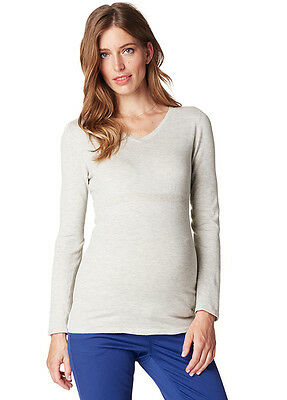 NEW - Esprit - Fitted Cotton Knit Jumper in Pale Grey - Maternity Jumper