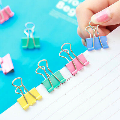 60Pcs 15mm Width Metal Binder Clips For Home Office Supplies School File Paper