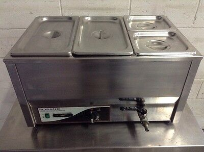 ROBAND BM2T BAIN MARIE COUNTER TOP  WARMER Restaurant CAFE FREE PANS & LiDS