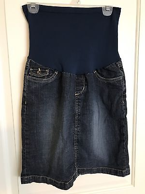 Maternity Denim Skirt~Size Small~Oh Baby by Motherhood~Super Cute!