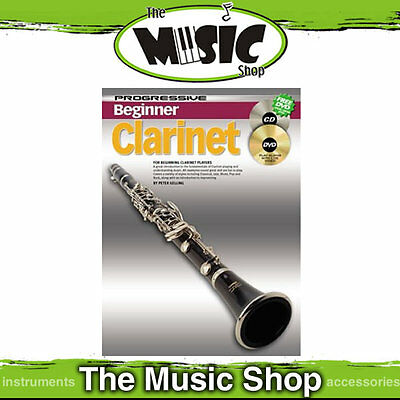 New Progressive Beginner Clarinet Music Book CD & DVD by Peter Gelling