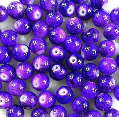 100Pcs 6mm Lampwork Round Czech Glass Spacer Loose Beads