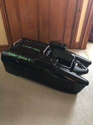 Viper Storm 2 Bait Boat With Hummingbird Rf15e Fish Finder Plus Extras Used Carp