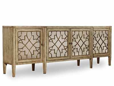 Hooker Furniture Hollywood Regency Sanctuary Four Door Mirrored Console Credenza