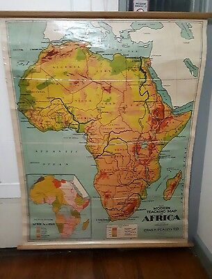 Vintage Modern Teaching Map Of Africa Scally & Co