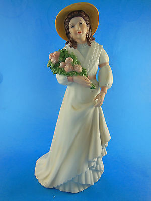 Homco Home Interiors Porcelain Victorian Girl Lady Figurine 1468 CHARLOTTE ROSE