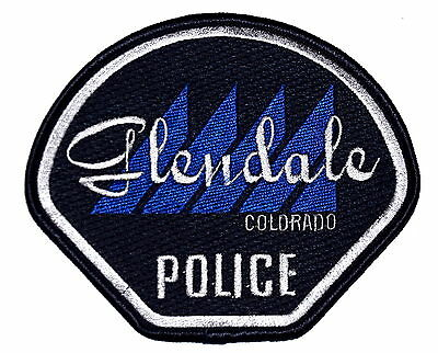 GLENDALE COLORADO CO Police Sheriff Patch MOUNTAINS~