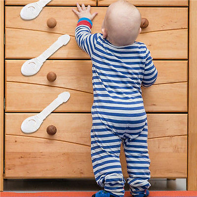 10X Safe Child Infant Baby Kid Drawer Door Cabinet Cupboard Toddler Safety Lock