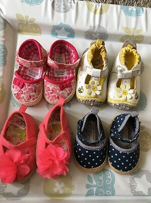 Bundle Of Baby Girls Shoes Size 3 To 6 Months