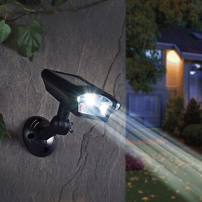 Solar Powered 360° Rotating Automatic Waterproof White LED Security Spot Light