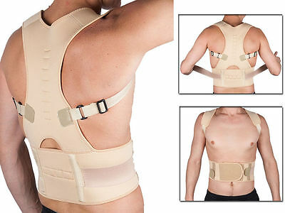 Magnetic Posture Corrector Brace Bad Back Lumbar Problems Good Proper Support