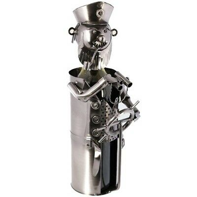 (Captain) - Metal Bottle Wine Holder Ornament Decor Kitchen Gift Novelty Rack
