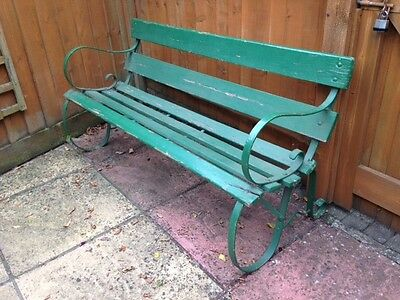 Victoria Metal and Wood Garden Bench Vintage Seating
