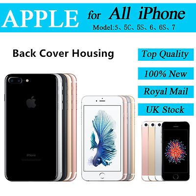 Back Battery Cover For All iPhone Model Replacement Housing Rear Case Mid Frame
