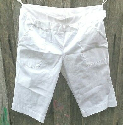 Ripe Maternity Tomboy Shorts White Womans Size S Small NWT