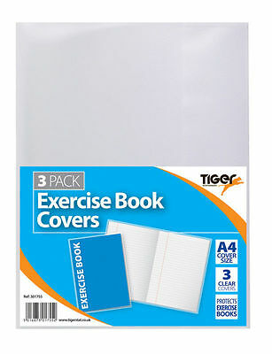 A4 Exercise Book Clear Covers / Plastic Protecting Sleeve / Tiger-301755