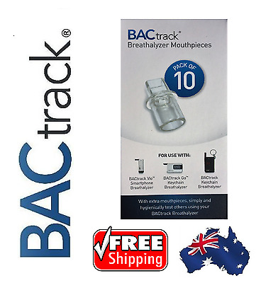 BACtrack Vio & Go 10 x Mouthpieces - Breathalyser / Breath Tester. FREE Shipping