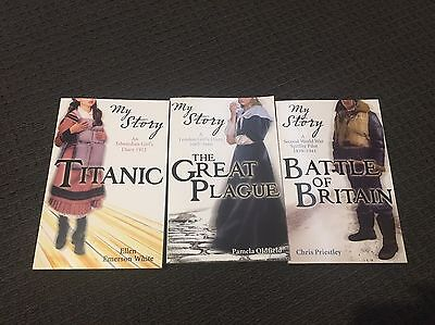 3x My Story Books - Titanic, The Great Plague And Battle Of Britain