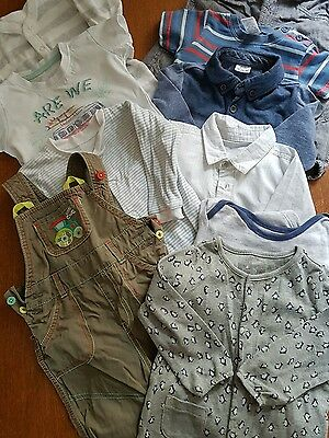 lot 7, bundle of 9-12 month boys clothes, 10 items