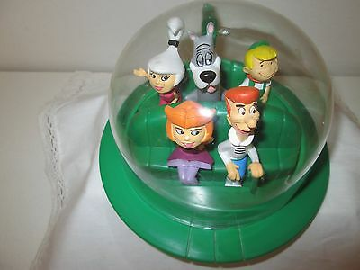 """Jetson's in Spaceship W/Clear Dome """"RARE"""" Family - George,Jane,Judy,Elroy,Astro"""