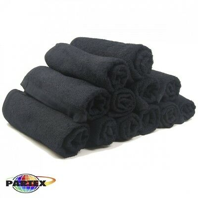 Partex Royale Bleach Guard Salon Towels in Black, 12 Pack. Free Delivery