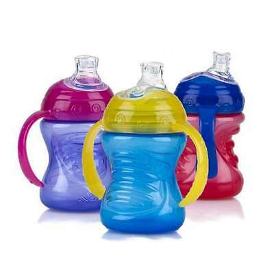 Nuby Simply Grip n Sip No Spill Toddler 240ml Cup 4m+ - choose your colour!