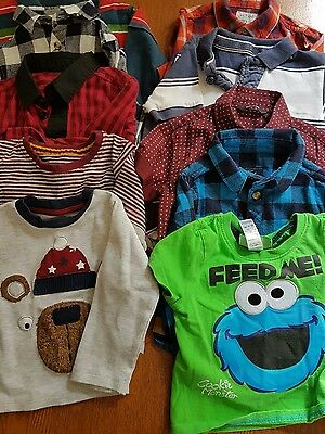 lot 1, bundle of 12-18 month boys clothes, 10 items