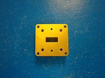 Millitech BMF-42 WR-22 Round Flange to Square Edge Bulkhead Adapter 33-50GHz