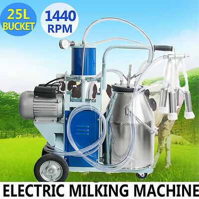 Automatic 25L Electric Milking Machine For Cattle Cow Bucket 12Cows/hour Milker