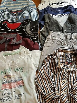 lot 3, bundle of 6-9 month boys clothes, 10 items