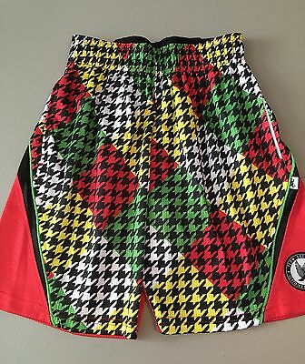 NWT Flow Society XS Houndstooth Girls Boys Kids Youth Athletic Soccer Shorts