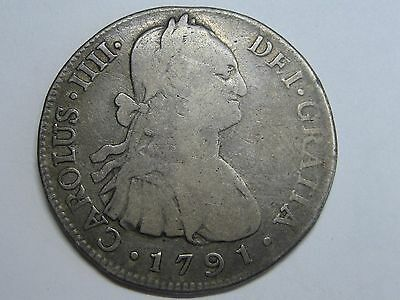 1791 Guatemala 4 Real Charles Iv Spain Spanish Colonial Silver High Quality And Inexpensive Coins: World