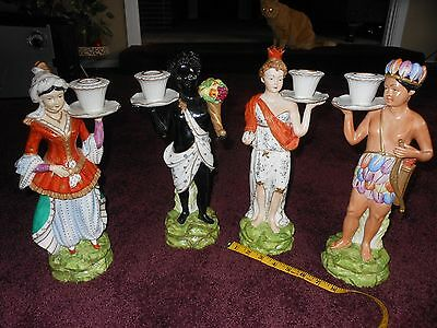 "Vintage Chelsea House Port Royal ""The Cain collection""Porcelain candle holders"