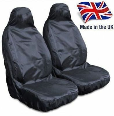 Mitsubishi L200 Pickup Heavy Duty Waterproof Black Front Seat Covers 1+1