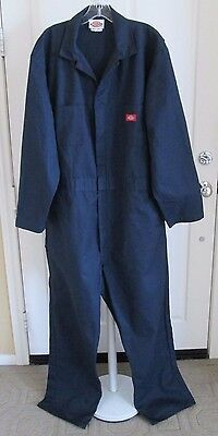 DICKIE'S Dark Blue Mens Size XL Tall Lg Sleeve Work Mechanic Coveralls Overalls