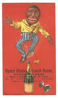 Estate 1882 Black Americana Restaurant Advertising Card-F.e. Prevost Westerly Ri