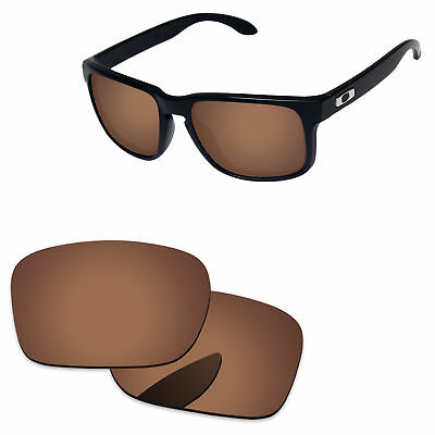 PapaViva Polarized Replacement Lenses For-Oakley Holbrook Sunglass -Copper Brown