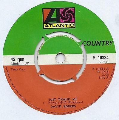 "David Rogers - Just Thank Me - 7"" Single"