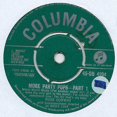 """Russ Conway - More Party Pops - 7"""" Single"""