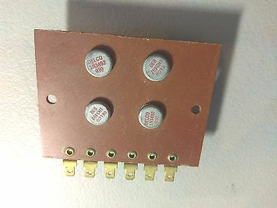 4  Mounted 1N3492 Delco Silicon Power Rectifier Diodes   Untested But Guaranteed